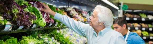 Man shopping for produce